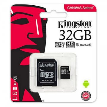 Karta Pamięci Micro-SD z Adapterem Kingston SDCS2 100 MB/s exFAT - 32 GB